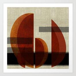 """""""Abstract Ships at Sunset"""" Art Print"""