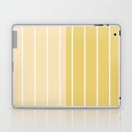 Two Tone Stripes - Yellow Laptop & iPad Skin