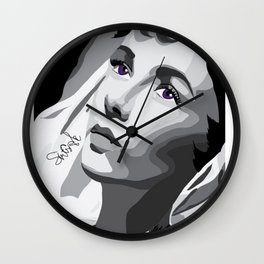 Elizabeth Taylor - Purple Eyes Wall Clock