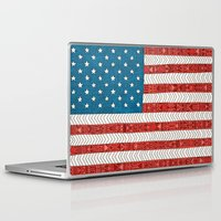 novelty Laptop & iPad Skins featuring USA by Bianca Green