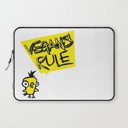 Vegans rule! Laptop Sleeve