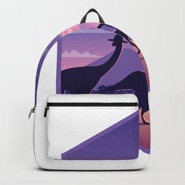 Dinosaur with meteorite Backpack