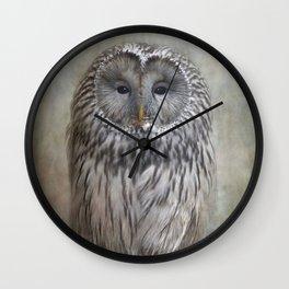 Ural Owl ( Grey owl ) Wall Clock