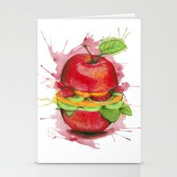 burger Stationery Cards featuring burger by Boho déco