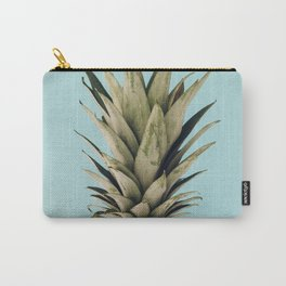 Pineapple on blue background Carry-All Pouch