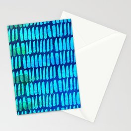 Watercolor Paint Strokes Scratched Suede Pattern Stationery Cards