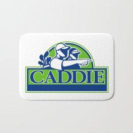 Professional Golfer and Caddie Retro Bath Mat