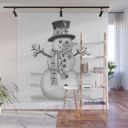 the snowman Wall Mural