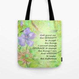Serenity Prayer Vinca Glow Tote Bag