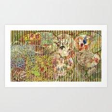 Jeune fille de joie usine (Factory girl joy) Art Print