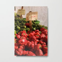 Day at the Farmers Market Metal Print