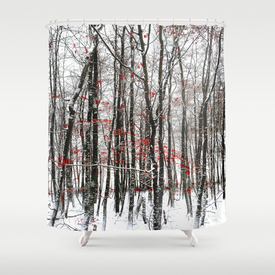 Winter Forest Shower Curtain By Laake Photos