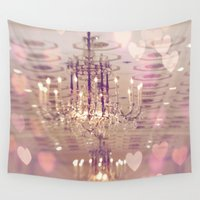 chandelier Wall Tapestries featuring Mayflower Chandelier by kelly*n photography