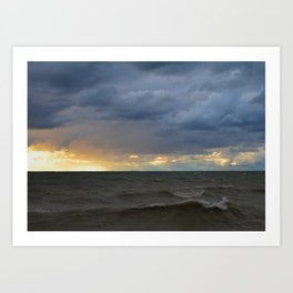 Waves & Storm 7 Art Print