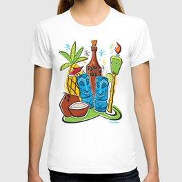 Tiki Hawaiian Happy Hour by Art of Scooter T-shirt