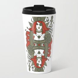 SINS Mentis - Greed Queen of Diamonds Travel Mug