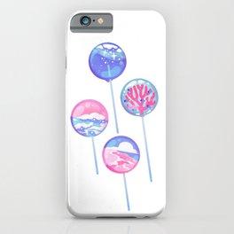 Ocean Blue Lollipop iPhone Case