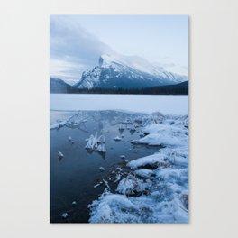 Winter in Banff Alberta Canvas Print