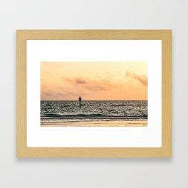 Clearwater Beach Sunset Framed Art Print