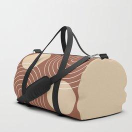 Mid Century Modern Geometric 26 (Terracotta and beige) Duffle Bag