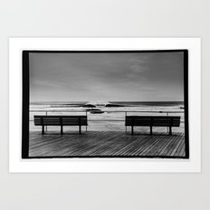 Two Benches Art Print