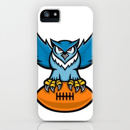 Great Horned Owl American Football Mascot iPhone Case