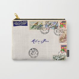 French Postage, meet me in Paris Carry-All Pouch