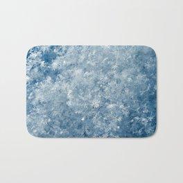 Snowflakes background macro winter Bath Mat