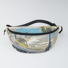 Train Tracks in Cardiff by the Sea Fanny Pack