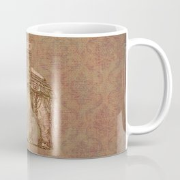 Vintage Elephant Bastille Monument Engraving Coffee Mug