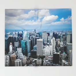 From New York to the Sky at the Manhattan Big Apple Dream Throw Blanket