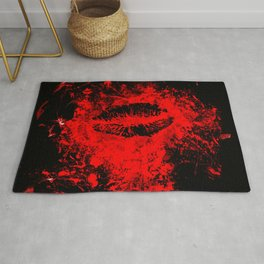 Gothic Bloody Kiss Rug