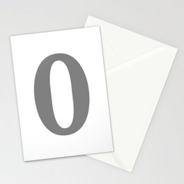 0 (GRAY & WHITE NUMBERS) Stationery Cards
