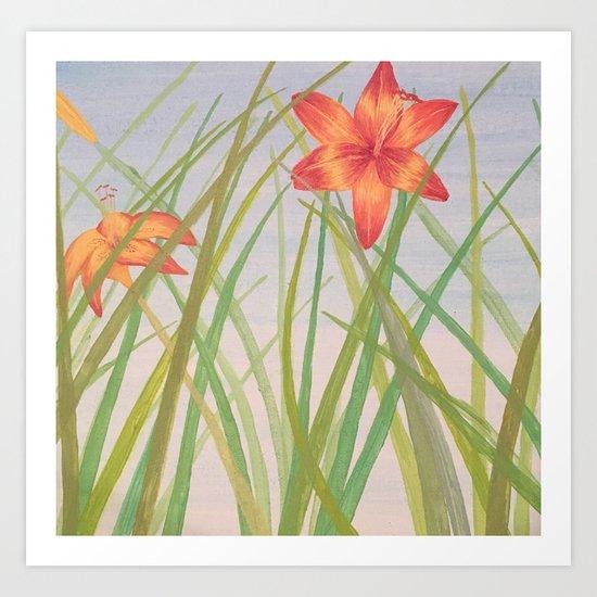 Lily Bloom Art Print