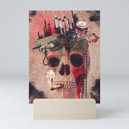 Capitalism Skull Mini Art Print