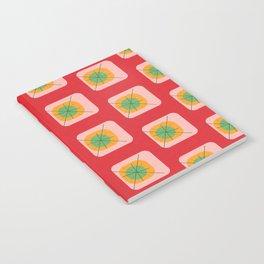 Flower Eggs Red Notebook