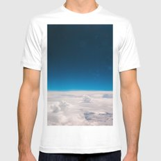 Blue and White at the sky Mens Fitted Tee White MEDIUM