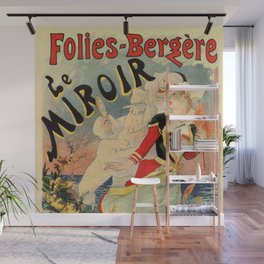 French belle epoque mime theatre advertising Wall Mural