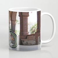 bikes Mugs featuring Bikes by Photaugraffiti