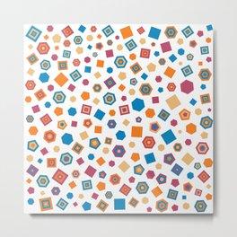 Polygons in colors Metal Print