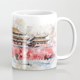 Forbidden City, Beijing, Watercolor Coffee Mug