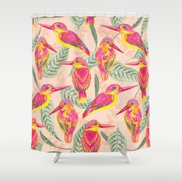 PINK BIRDS Shower Curtain