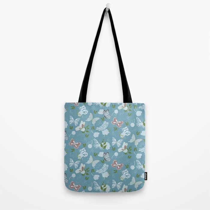 Butterfly Flowers 1 Tote Bag