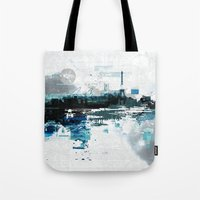 skyline Tote Bags featuring Skyline by girardin27