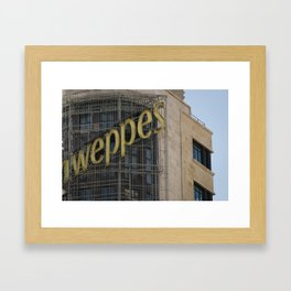 Madrid stories Framed Art Print
