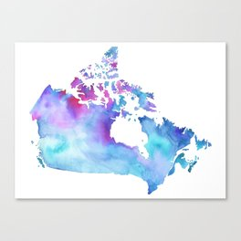 Canada Map Canvas Print