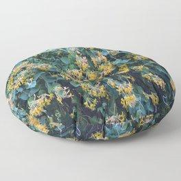 Honeysuckle Flowers – Golden Showers Floor Pillow
