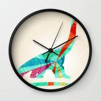 dinosaur Wall Clocks featuring dinosaur by Emmy Winstead