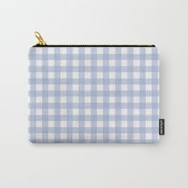 Pantone 2016: Serenity Small Gingham Carry-All Pouch