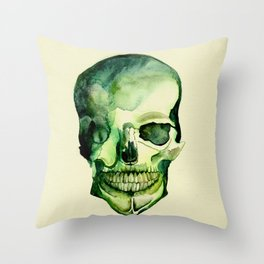 Painted Skull #1 Throw Pillow